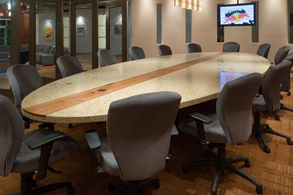 Conference Room Terrazzo Concrete Tabletop