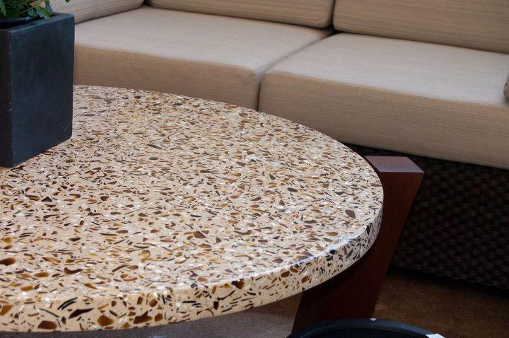 Round DEXterra Concrete Tabletop