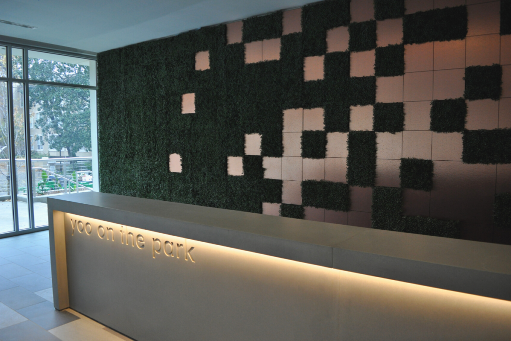 Yoo On The Park Reception Countertop by Philipe Starck